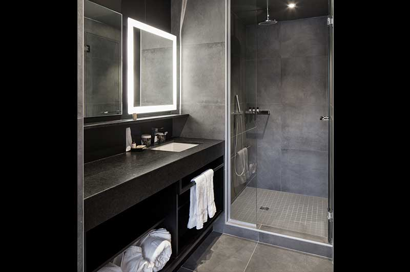 Hotel Suite Bathroom With Shower